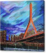 Zakim Bridge - Boston Canvas Print