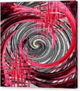 Zebra And A Rose Canvas Print