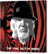 Zebra Blues Man Canvas Print