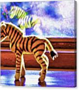 Zebra Dreaming Canvas Print