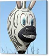 Zebra Hot Air Balloon At Balloon Fiesta Canvas Print