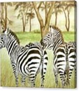 Zebra Pals Canvas Print