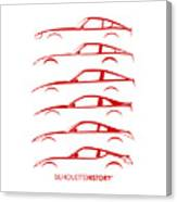 Zee Car Silhouettehistory Canvas Print