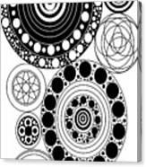 Zen Circles Design Canvas Print