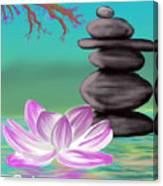 Zen Pool- Turquoise Canvas Print