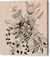 Zentangle 16-02 Canvas Print
