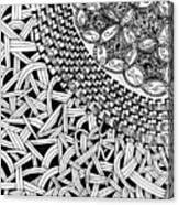 Zentangle Inspired Design Canvas Print