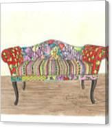 Zentangle Sofa Canvas Print