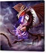 Zerolios - Bone Lighting Dragon Canvas Print
