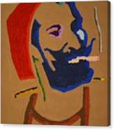 Brown Zig Zag Man Canvas Print