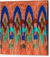 Zig Zag Pattern On Orange Canvas Print