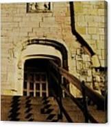 Zig Zag Shadows At Clifford's Tower, York, England Canvas Print