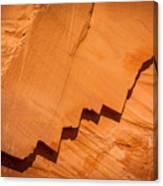 Zigzag Sandstone Canvas Print