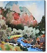 Zion Blue Stream Canvas Print