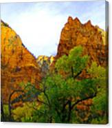 Zion In Autumn Canvas Print