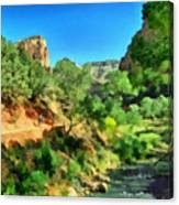 Zion In The Morning Canvas Print
