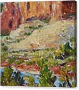 Zion Mountain Cliff Canvas Print