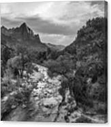 Zion National Park In Black And White  Canvas Print