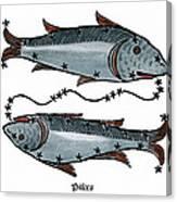 Zodiac: Pisces, 1482 Canvas Print