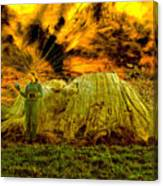 Zoe And The Ancient Remnant Eucalyptus Viminalis Canvas Print