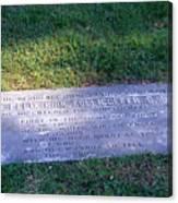 Zollicoffer's Grave Canvas Print