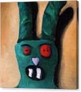 Zombie Bunny Canvas Print