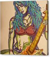 Zombie Guitar Canvas Print