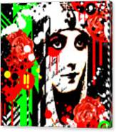 Zombie Queen Roses Canvas Print
