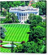 Zoomed In Photo Of The White House Canvas Print