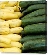 Zucchini On Display At Farmers Market 2 Canvas Print