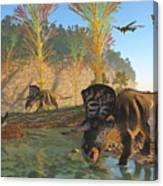 Zuniceratops River Canvas Print