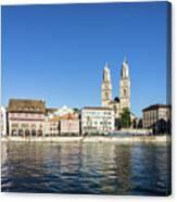 Zurich Cathedral Canvas Print