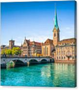 Zurich City Center Canvas Print