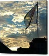 Zurich Griffin Flag At Sunset Canvas Print
