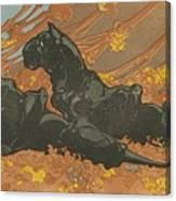 Zwarte Panters Canvas Print