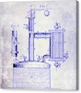 1878 Beer Boiler Patent Blueprint Canvas Print