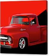 1956 Ford F100 Stepside Pickup Canvas Print