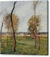 A Meadow In Eragny, 1889 Canvas Print