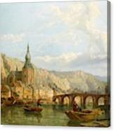 A View Of Dinant Canvas Print