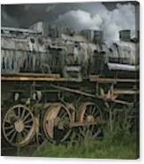 Abandoned Steam Locomotive  Canvas Print