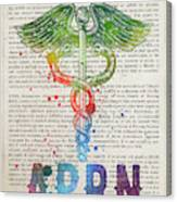 Advanced Practice Registered Nurse Gift Idea With Caduceus Illus Canvas Print