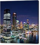 Aerial Panorama Of Jersey City Canvas Print