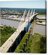 Aerial View Of Talmadge Bridge Canvas Print