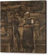 Albin Egger-lienz 1868 - 1926 The Ages Of Life Canvas Print