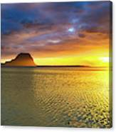 Amazing View Of Le Morne Brabant At Sunset.mauritius. Panorama Canvas Print
