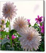 Among The Flowers Canvas Print