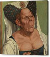 An Old Woman  The Ugly Duchess   Canvas Print