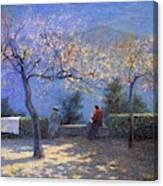Angelo Morbelli 1853-1919, Spring In Colma - 1906 Canvas Print
