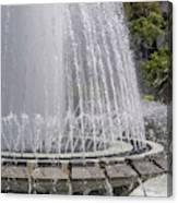 Arthur J. Will Memorial Fountain At Grand Park Canvas Print