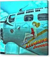 B-17 Aluminum Overcast Pin-up Canvas Print
